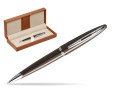 Waterman Carène Frosty Brown CT Ballpoint pen  in classic box brown