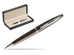 Waterman Carène Frosty Brown CT Ballpoint pen  in classic box  pure black