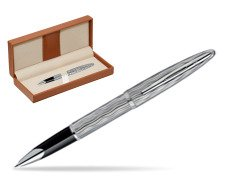 Waterman Carène Essential Silver ST Rollerball pen  in classic box brown