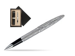Waterman Carène Essential Silver ST Rollerball pen  single wooden box  Wenge Single Ecru