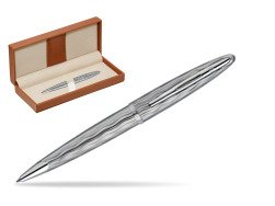 Waterman Carène Essential Silver ST Ballpoint pen  in classic box brown
