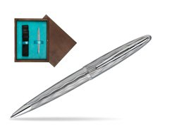 Waterman Carène Essential Silver ST Ballpoint pen in single wooden box  Wenge Single Turquoise