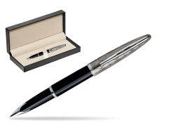 Waterman Carène Contemporary Black and Gunmetal ST Fountain pen  in classic box  pure black
