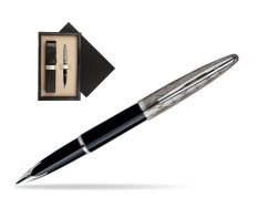 Waterman Carène Contemporary Black and Gunmetal ST Fountain pen  single wooden box  Wenge Single Ecru