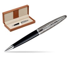 Waterman Carène Contemporary Black and Gunmetal Ballpoint pen ST  in classic box brown