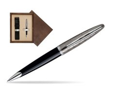 Waterman Carène Contemporary Black and Gunmetal Ballpoint pen ST in single wooden box  Wenge Single Ecru