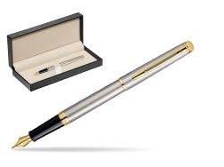 Waterman Hémisphère Stainless Steel GT Fountain pen  in classic box  pure black