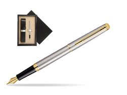 Waterman Hémisphère Stainless Steel GT Fountain pen  single wooden box  Wenge Single Ecru