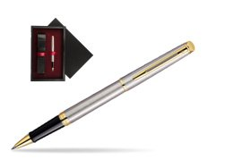 Waterman Hémisphère Stainless Steel GT Rollerball pen  single wooden box  Black Single Maroon