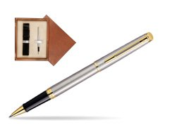 Waterman Hémisphère Stainless Steel GT Rollerball pen in single wooden box  Mahogany Single Ecru