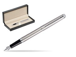 Waterman Hémisphère Stainless Steel CT Fountain pen  in classic box  pure black