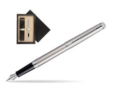 Waterman Hémisphère Stainless Steel CT Fountain pen  single wooden box  Wenge Single Ecru