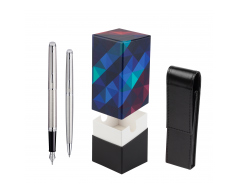 Waterman Hémisphère Stainless Steel CT Fountain pen + Hémisphère Stainless Steel CT Ballpoint pen in gift box in gift box  StandUP Kaleidoscope