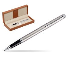 Waterman Hémisphère Stainless Steel CT Rollerball pen  in classic box brown