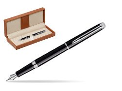Waterman Hémisphère Black CT Fountain pen  in classic box brown
