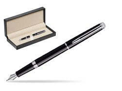 Waterman Hémisphère Black CT Fountain pen  in classic box  pure black