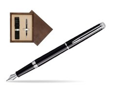 Waterman Hémisphère Black CT Fountain pen in single wooden box  Wenge Single Ecru