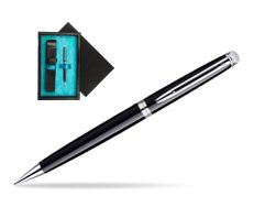 Waterman Hémisphère Black CT Mechanical pencil   single wooden box  Black Single Turquoise