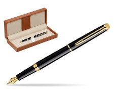 Waterman Hémisphère Black GT Fountain pen  in classic box brown