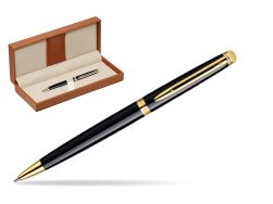 Waterman Hémisphère Black GT Ballpoint pen  in classic box brown