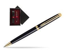 Waterman Hémisphère Black GT Ballpoint pen  single wooden box  Black Single Maroon