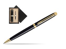 Waterman Hémisphère Black GT Ballpoint pen  single wooden box  Wenge Single Ecru