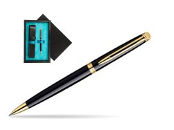 Waterman Hémisphère Black GT Ballpoint pen  single wooden box  Black Single Turquoise