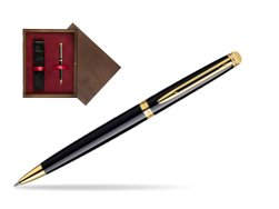 Waterman Hémisphère Black GT Ballpoint pen in single wooden box  Wenge Single Maroon