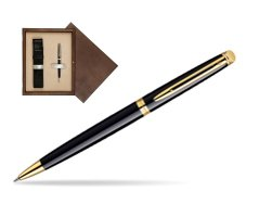 Waterman Hémisphère Black GT Ballpoint pen in single wooden box  Wenge Single Ecru