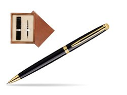 Waterman Hémisphère Black GT Mechanical pencil  in single wooden box  Mahogany Single Ecru