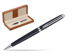 Waterman Hémisphère Matt Black CT Ballpoint pen  in classic box brown