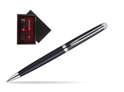 Waterman Hémisphère Matt Black CT Ballpoint pen  single wooden box  Black Single Maroon