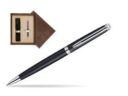 Waterman Hémisphère Matt Black CT Ballpoint pen in single wooden box  Wenge Single Ecru