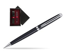 Waterman Hémisphère Matt Black CT Mechanical pencil   single wooden box  Black Single Maroon