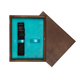 Single Wooden Box Wenge Turquoise